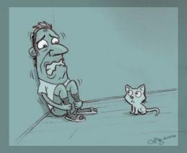 sekretarisku-phobia-anak-kucing